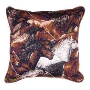 'Horse of a Different Colour' - Filled Cushion-0