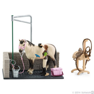Schleich - Wash Area (includes horse & rider and more)-0