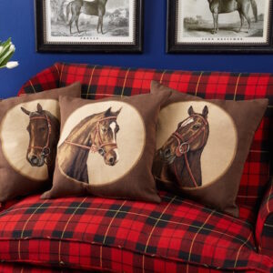 """""""Horse to the Left"""" Tapestry Cushion Cover-631"""