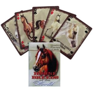 Horse Breeds of the World Playing Cards-0