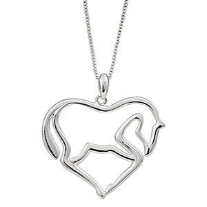 Horse Heart Pendant w/chain-743