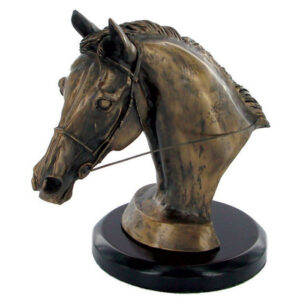 'Eventers Head' Bronze by Harriet Glen (16cm)-182
