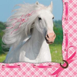 Heart My Horse Beverage Napkins (16pce)-347