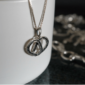 Heart n Horseshoes Sterling Silver Pendant w/chain-4009