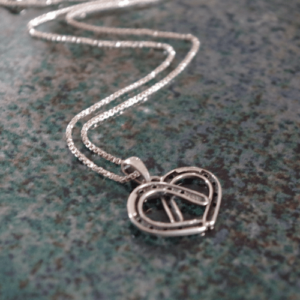 Heart n Horseshoes Sterling Silver Pendant w/chain-0