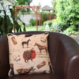 Horse Tapestry Cushion Cover-0