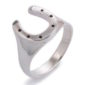 Horseshoe Sterling Silver Ring -848