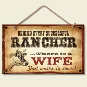 """""""Successful Rancher"""" Decorative Hanging Sign-0"""