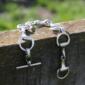 Maxi Snaffle Bit Bracelet - Solid Sterling Silver-0