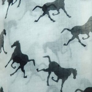 Vintage Horses Scarves - Soft Mint-251