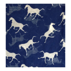 Vintage Horses Scarves - Navy Blue-243