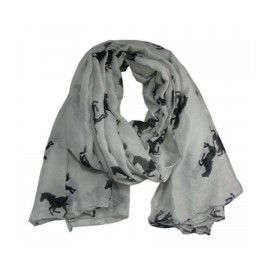 Mulberry Scarf - Black on Grey-1798