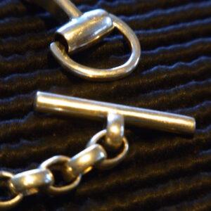 Petite Snaffle Bit Bracelet - Solid Sterling Silver-151