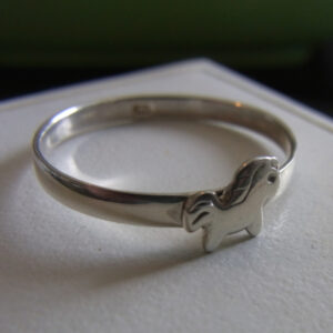Petite Pony Sterling Silver Ring -0