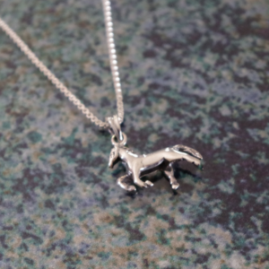 Sterling Silver Prancing Pony Pendant w/chain-4018