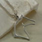Sterling Silver Elegant Horse Head Pendant w/chain-1588