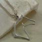Sterling Silver Elegant Horse Head Pendant w/chain-1588