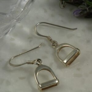 Sterling Silver Elegant Stirrup Drop Earrings-0