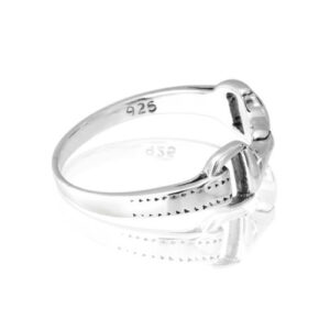 Sterling Silver Horse Bit Ring-842