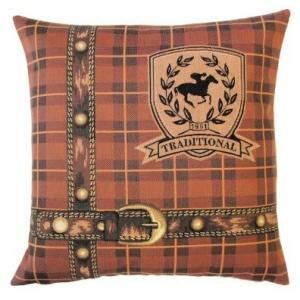 'Traditional' Tartan & Belt - Tapestry Cushion Cover-0