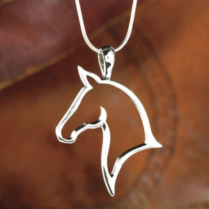 Graceful Horse Pendant w/chain-0