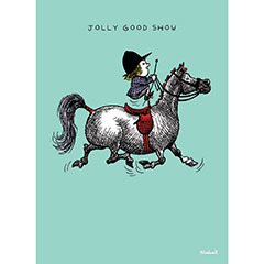 Thelwell Blank Greeting Card - Jolly Good Show -0