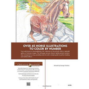 Horses by Number - Adult Colouring Book-2359