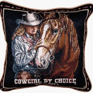 Cowgirl By Choice - Tapestry Cushion-0