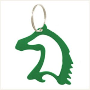 Horse Head Bottle Opener/Keychain - Green-0