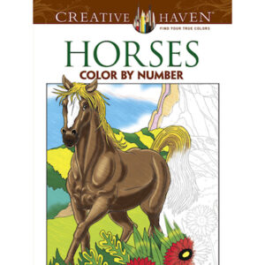 Horses by Number - Adult Colouring Book-0