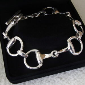 Classic Snaffle Bit Bracelet - Solid Sterling Silver-0