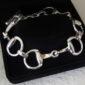 Classic Snaffle Bit Bracelet - Solid Sterling Silver-0