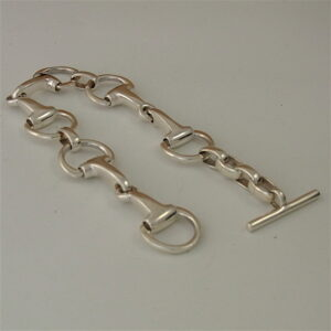 Classic Snaffle Bit Bracelet - Solid Sterling Silver-2356