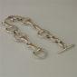 Classic Snaffle Bit Bracelet - Solid Sterling Silver-2356