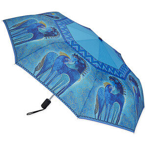 Laurel Burch - Teal Mares Folding Umbrella-0