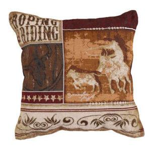 Roping & Riding - Tapestry Cushion-0