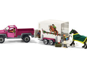 Schleich - Pick Up with Horse Float -0