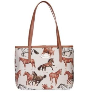 Run Free Horse Tapestry Tote Bag-0