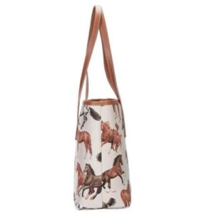 Run Free Horse Tapestry Tote Bag-5381