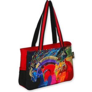 'Wild Horses of Fire' Medium Bag by Laurel Burch-0