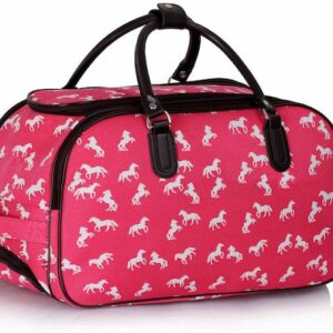 51cm Travel Cabin Bag with wheels - Pink -3422