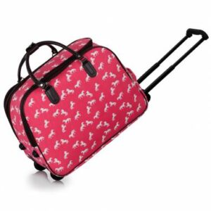 51cm Travel Cabin Bag with wheels - Pink -0