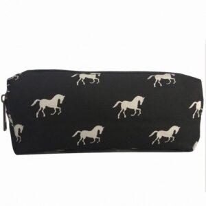 Horse Zipper Pouch - Black-0