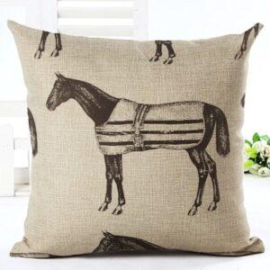 Vintage Horse Cushion Cover-0