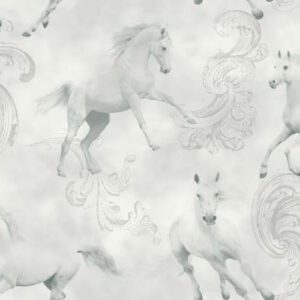 Glittery Grey Horse Wallpaper-3650