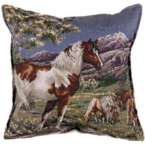 Mustang Horses - Tapestry Cushion-0