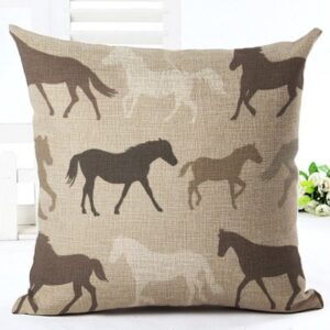 Horses All OVer Cushion Cover-0