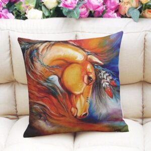 Horse Feather Cushion Cover-0