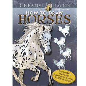 Creative Haven - How to Draw Horses Book-0