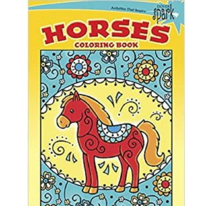 30 Happy Horses Colouring Book-0